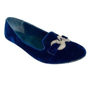 PAPRIKA | Fay Velour Slip-On Loafer Flats Size 8